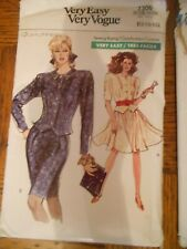 VINTAGE VERY EASY VERY VOGUE 7300 SIZE 12 - 16 TOP AND SKIRTS