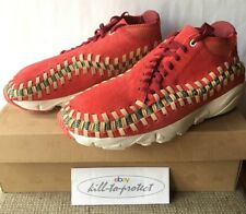 NIKE AIR FOOTSCAPE WOVEN Chukka Red Reef Sz US9 UK8 Knit 543208-863 HTM 2013