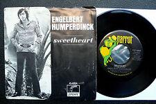 """7"""" Engelbert Humperdinck - Sweetheart - USA Parrot w/ Pic"""