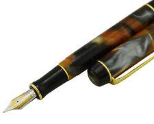 Kaigelu 316 Iridium M Nib Fountain Pen , Amber Color Celluloid Signature Pens