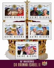 Guinea-Bissau 2016 MNH Queen Elizabeth II 90th Barack Obama Mandela 5v MS Stamps