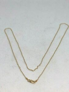 18k 750 REAL YELLOW GOLD ROLLO CHAIN NECKLACE MADE IN ITALY