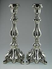 Large Vintage Solid Silver Candlesticks