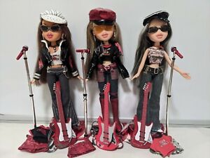 MGA Bratz lot - 3 Rock Angelz dolls, Cloe Jade Yasmin w clothes accessories