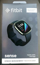 *NEW / SEALED* Fitbit Sense Fitness Health & Stress Tracker Smartwatch Black NIB