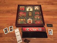 WOODEN CLUE PREMIER COLLECTORS EDITION GAME FROM RESTORATION HARDWARE 3D HTF EUC