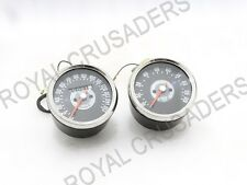 NEW BSA NORTON TRIUMPH SMITH REPLICA SPEEDOMETER TACHOMETER PAIR 0-150 MPH GREY