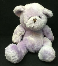 "Purple Lavender Teddy Bear Soft Plush 6"" Sitting Lovey Toy"