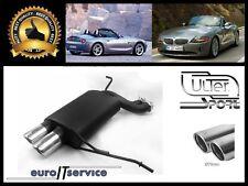 SILENCIEUX POT D'ECHAPPEMENT BMW Z4 E85 2002 2003 2004 2005 TIP 2x70 RS