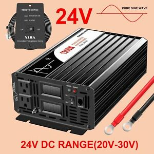 pure sine wave inverter 1500W DC 24V to AC 120V with remote control
