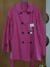 UNI QLO 8 button front trench coat - fuschia - XXL
