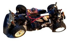 Tamiya Porsche 959 chassis   damaged -parts or project. Working technigold motor
