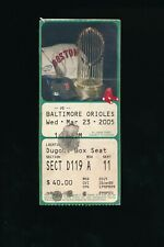 March 23 2005 Baltimore Orioles @ Boston Red Sox Spring Training Ticket