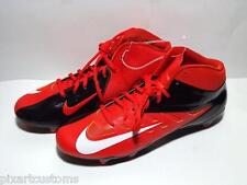 MEN'S NIKE VAPOR PRO MID D FOOTBALL CLEATS SHOES 511343 810 ORANGE BLACK SIZE 12