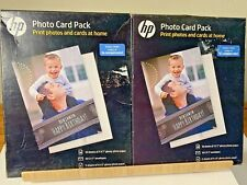 """HP Inkjet Printer Glossy 5"""" x 7"""" & 4"""" x 6"""" Photo Card Picture Paper [LOT OF 2]"""