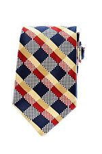 NEW Faconnable Thick Woven Hand Made Silk Check Dress Neck Tie - Made in France