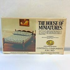 X-ACTO HOUSE OF MINIATURES Wood Doll House Chippendale Low Post Bed Kit #40033