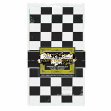 CHEQUERED FLAG RACING THEME PARTY TABLECLOTH 137 x 274CM