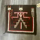 """Vintage 1940s Navajo Rug 23"""" Square"""