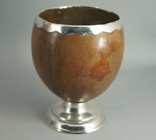 FINE ANTIQUE 19TH C GEORGIAN SILVER MOUNTED COCONUT CUP TREEN NR!