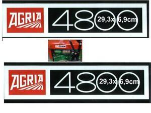 2 stk Agria Hauben Aufkleber Traktor 4800 auch für 4700 5700 6700 6900 + andere