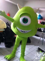 Mike Wazowski From Monster University Mascot Costume Cosplay Fancy Dress Adults