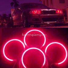 4pcs Red Led Xenon CCFL Angel Eyes Halo Rings Lights Lamp For BMW E36 E38E39 E46
