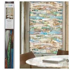 "24"" x 36"" Artscape TERRAZZO Stained Glass Privacy Static Cling WINDOW FILM"
