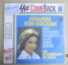 """7"""" Vinyl Hit Come Back, Johanna von Koczian """"Das bisschen Haushalt, Ein Spazier"""""""