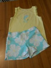 12 Girls - Gymboree Brand - 2pc Summer Set - Flower Terry Shorts / Dolphin Top