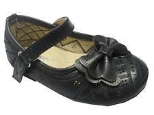 Girl Dress Flats Shoes (della05b) TODDLER  Black Pink White