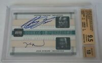 2003-04 UD Legends ANTAWN JAMISON JOSH HOWARD Auto 19/25 BGS 9.5 GEM MINT 1/1