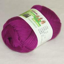 50g 1Ball Super Soft Worsted Natural Bamboo Cotton Knitting Yarn Bramble berry