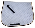 D.A. Brand Baby Blue Heavy Quilted Cotton English Saddle Pad Horse Tack