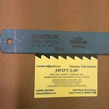 "10PCS- 18"" X 1-1/4"" X .062 X 10T POWER HACK SAW BLADE SANDVIK HIGH SPEED STEEL"