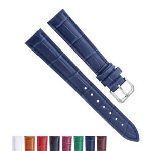 12-24mm Genuine Leather Watch Strap Bracelet Replacement Pin Buckle Wrist Band