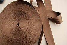HOLDEN, HQ, FORD, VALIANT etc. MEDIUM BROWN  SEATBELT WEBBING AUSTRALIAN MADE