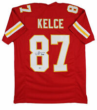 Chiefs Travis Kelce Authentic Signed Red Jersey Autographed BAS