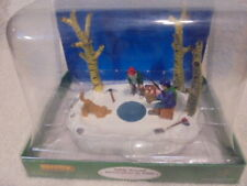 2010 Lemax I've Got One! Ice Fishing Village Table Accent Figure-Winter Village