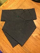 Ready Tied Stock Tie, Cotton, Handmade, Dressage, Showing, Hunting, Size M.
