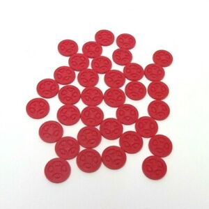 Sequence Game Replacement Parts - Complete Set  35 Red Chips