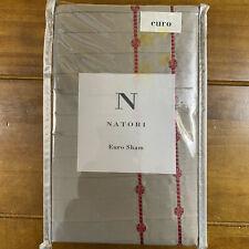 New Natori Cherry Blossom Euro Sham Pillow Sham Charcoal Grey