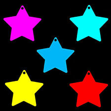 100 Medium Star Shaped Price Tag Labels Display Tickets. Favours. All Colours