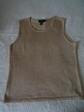 GITI New York L Gold Sleeveless Tee