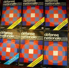 défense nationale Lot de 6 revues 1976 - 1977 - 1978 - 1980