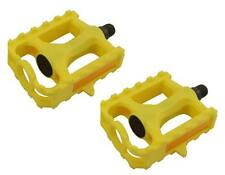 """M.T.B Pedals 861 1/2"""" Yellow.bmx bicycle pedal.road bicycle pedal PLASTIC 1/2"""
