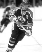"1980s Edmonton Oilers WAYNE GRETZKY 8x10 Photo NHL Hockey Print ""The Great One"""