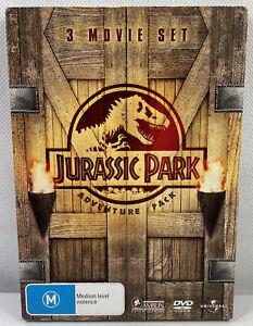 Jurassic Park Adventure Pack DVD set 1, 2 & 3 Region 4 PAL Free postage