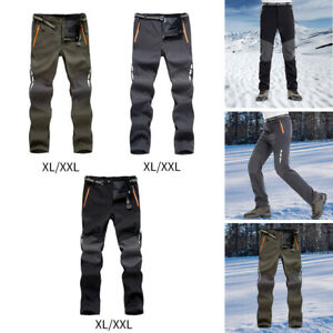 Trousers Lined with Zipper Pockets Cargo Wear Exercise Gear for Cycle Mens