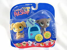 BNIB LITTLEST PET SHOP DOGS WITH MAILBOX #319 & #320